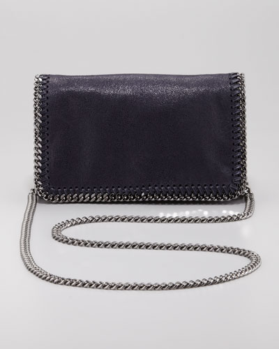 'Falabella - Shaggy Deer' Faux Leather Crossbody Bag - Black in Blue