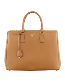 Prada Saffiano Executive Tote Bag, Caramel