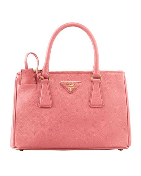 Mini Saffiano Lux Tote Bag, Pink, (Geranio)