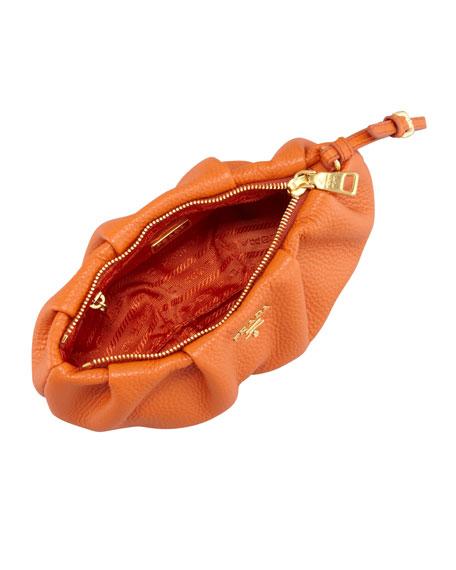 prada tessuto saffiano - prada pleated leather clutch, yellow prada purse