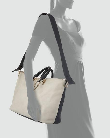 Baylee Large Shoulder Bag, Gray/Black