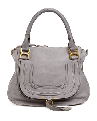 Marcie Medium Satchel Bag, Gray