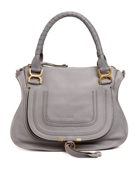 Chloe Marcie Medium Satchel Bag, Gray