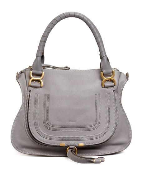 Chloe Marcie Medium Satchel Bag, Gray