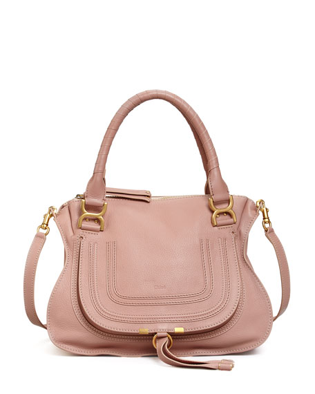 Chloe Marcie Medium Satchel Bag, Pink