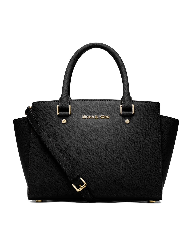 95ca0db546c5b MICHAEL Michael Kors Selma Medium Top-Zip Satchel Bag