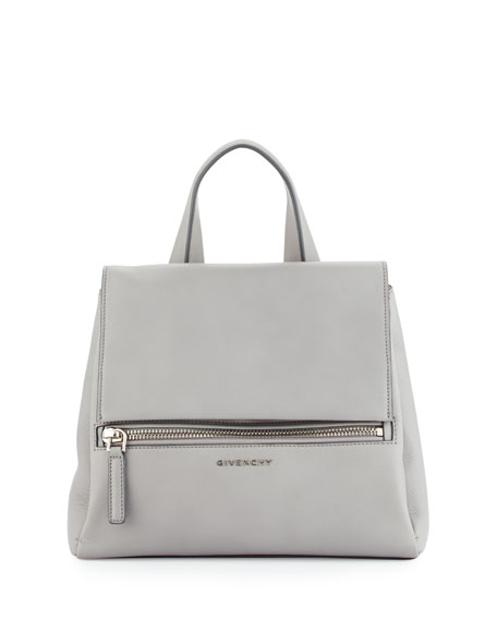 Givenchy Pandora Pure Small Leather Satchel Bag, Pearl Gray