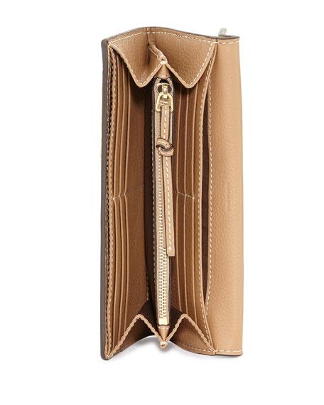 Chloe Marcie Continental Flap Wallet, Brown