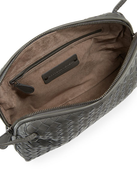 Intrecciato Messenger Bag, Gray