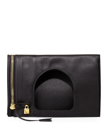 TOM FORD Alix Leather Padlock & Zip Shoulder