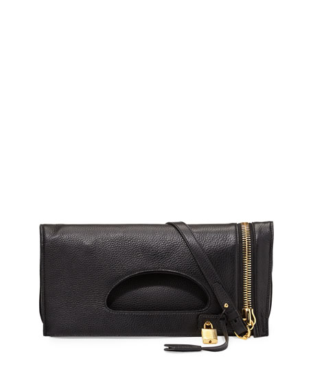 TOM FORD Alix Zip & Padlock Crossbody Bag,