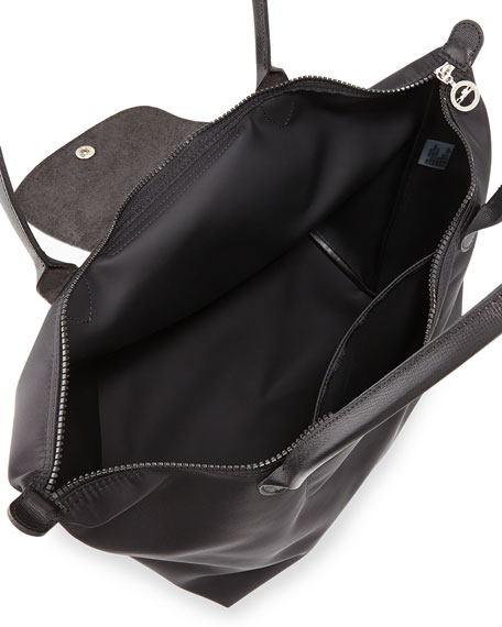 Le Pliage Neo Large Nylon Shoulder Tote Bag, Black