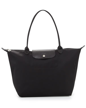 Longchamp Le Pliage Neo Large Nylon Shoulder Tote Bag, Black 6aa3e7938f