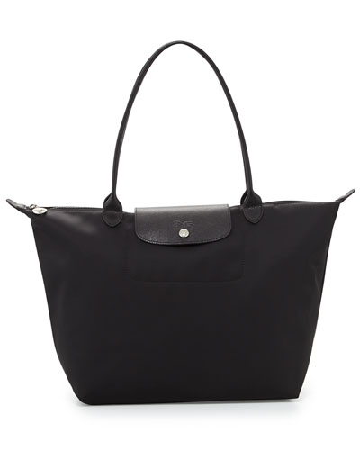 Le Pliage Néo Large Nylon Shoulder Tote Bag, Black