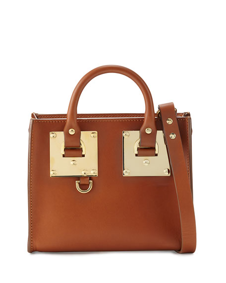 Sophie HulmeBuckled Leather Box Tote Bag, Tan