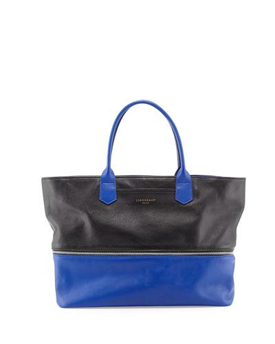 Longchamp 2.0 Tote Bag, Black/Blue