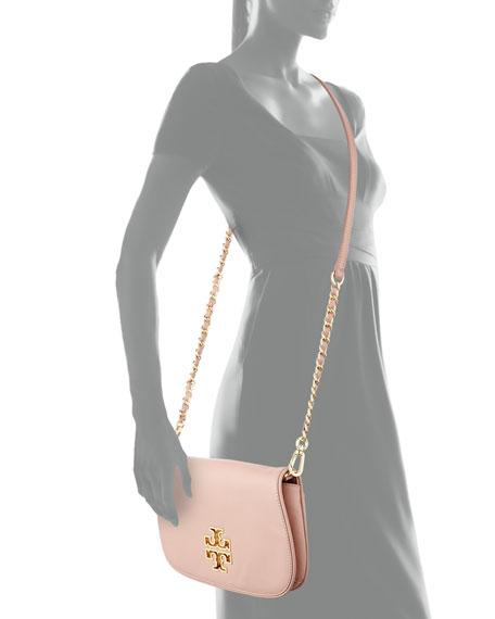 Britten Leather Clutch Bag, Indian Rose