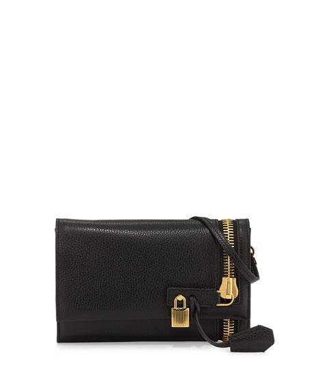 Alix Small Zip & Padlock Crossbody Bag