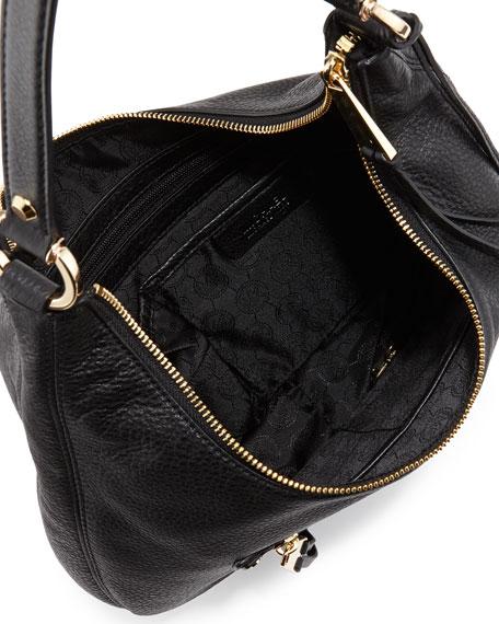 Rhea Medium Zip Bag Black