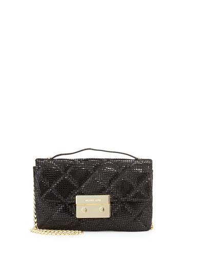 fc794eca99c3 MICHAEL Michael Kors Sloan Small Snake-Print Quilted Messenger Bag ...