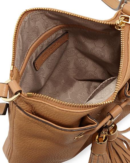 Camden Drawstring Crossbody Bag, Suntan