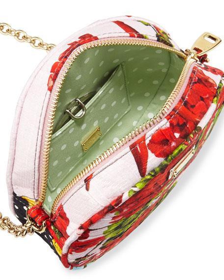0926d205ffee Dolce   Gabbana Glam Floral-Print Round Crossbody Bag