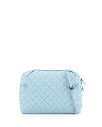 Veneta Small Messenger Bag, Light Blue