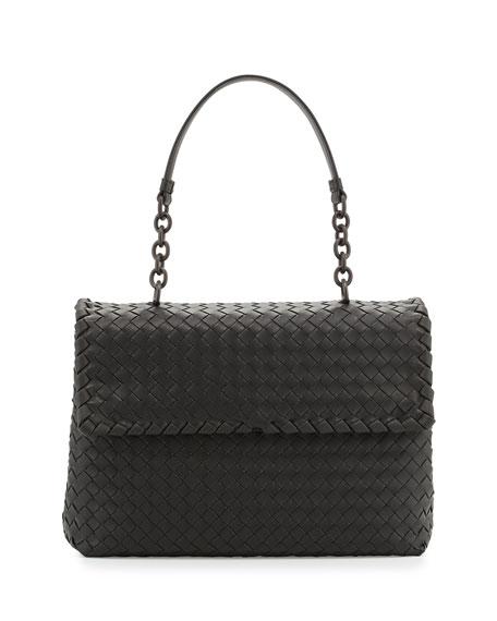 Bottega Veneta Olimpia Medium Shoulder Bag, Charcoal