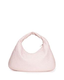 Veneta Intrecciato Large Hobo Bag, Pale Pink