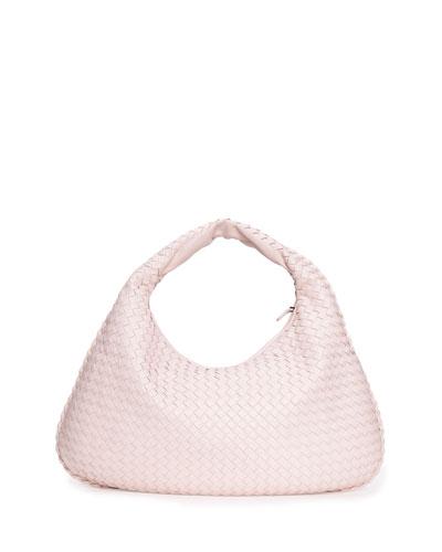 Veneta Large Hobo Bag, Pale Pink