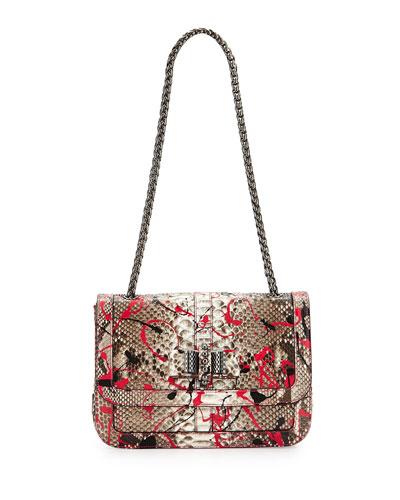 Sweet Charity Python Crossbody Bag, Pink