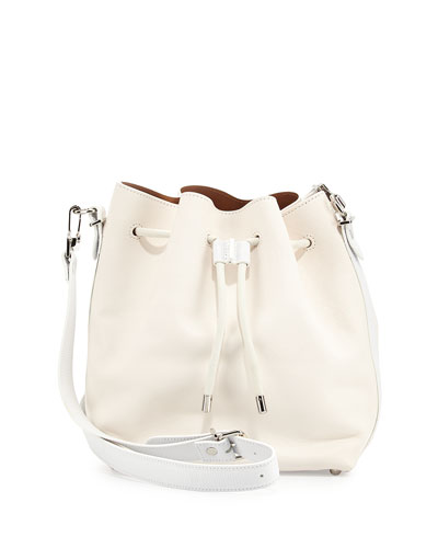 Medium Bucket Bag, White