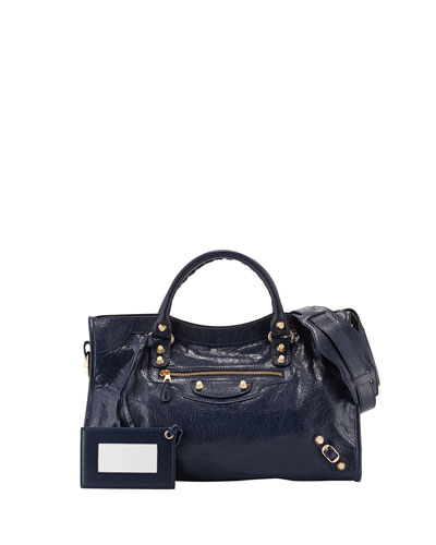 Balenciaga Giant 12 Golden City Bag, Dark Blue