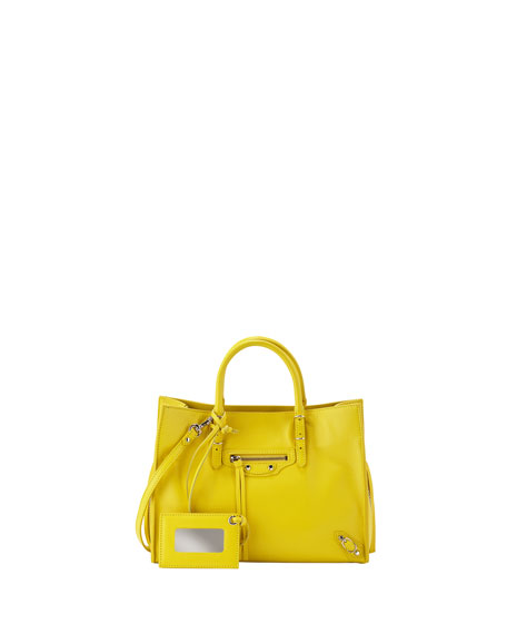 Balenciaga Papier A6 Zip-Around Tote Bag, Yellow