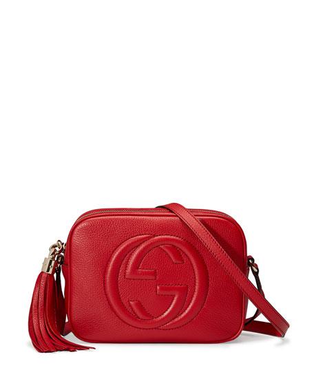 Gucci Soho Small Shoulder Bag, Red