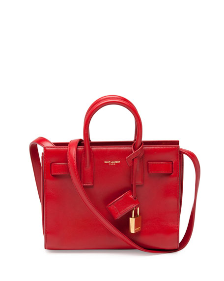 Sac de Jour Nano Satchel Bag, Red