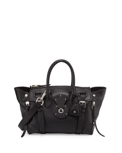 Ricky 27 Soft Satchel Bag, Black