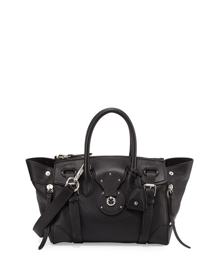 Ralph Lauren Ricky 27 Soft Satchel Bag, Black