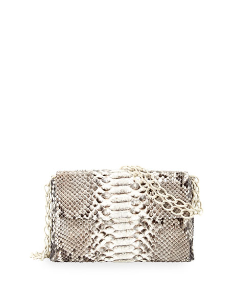 Nancy Gonzalez Crocodile/Python Small Chain-Strap Bag
