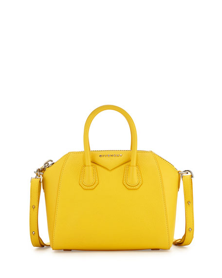 Givenchy Antigona Mini Leather Satchel Bag, Yellow