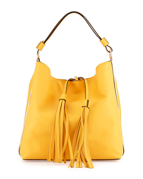 Marni Large Soft Bucket Hobo Bag, Yellow