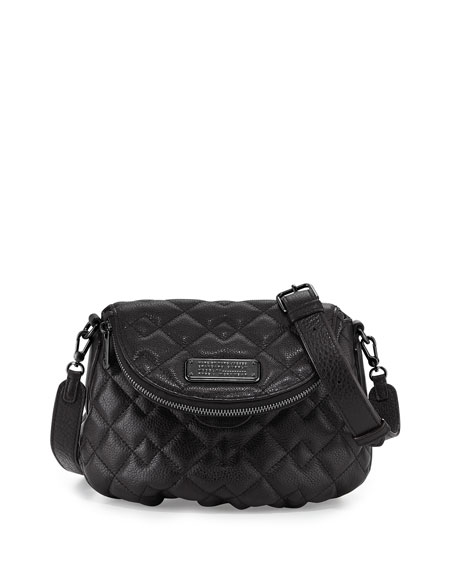 MARC by Marc Jacobs New Q Quilted Natasha Crossbody Bag, Black : marc jacobs black quilted bag - Adamdwight.com