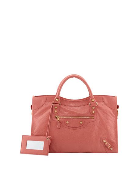 Balenciaga Giant 12 Golden City Bag, Rose Azalee
