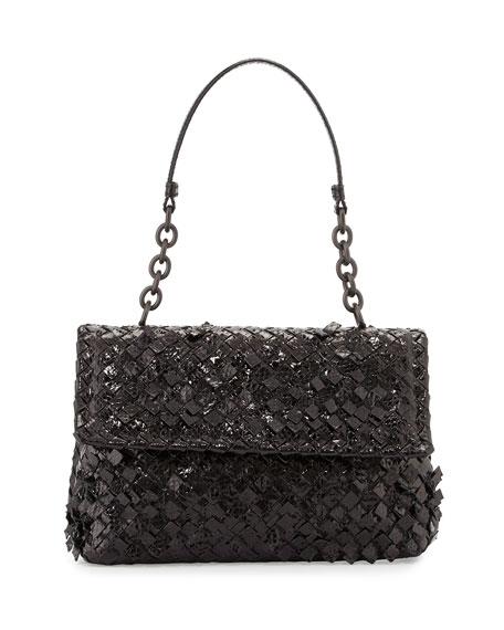 Bottega Veneta Olimpia Tobu Ayers Shoulder Bag, Black
