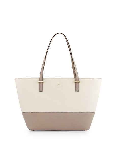 cedar street mini-harmony tote bag, pebble/warm putty