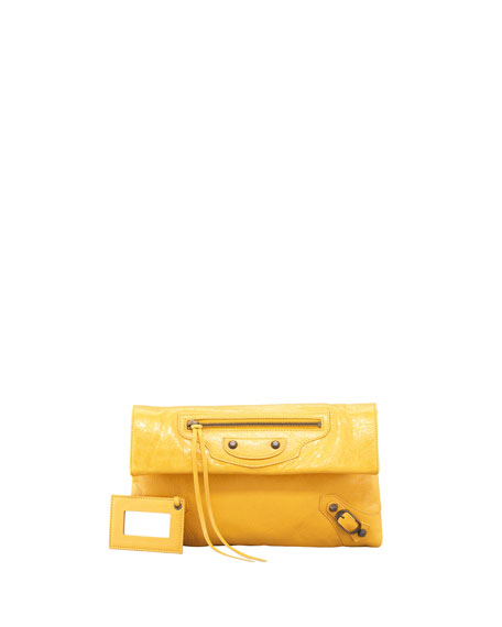 Balenciaga Classic Envelope Clutch Bag, Mangue