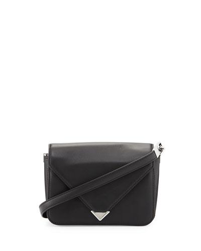 Prisma Small Leather Shoulder Bag, Black