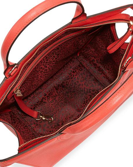 98396818900c Longchamp Le Pliage Heritage Saffiano Leather Satchel Bag