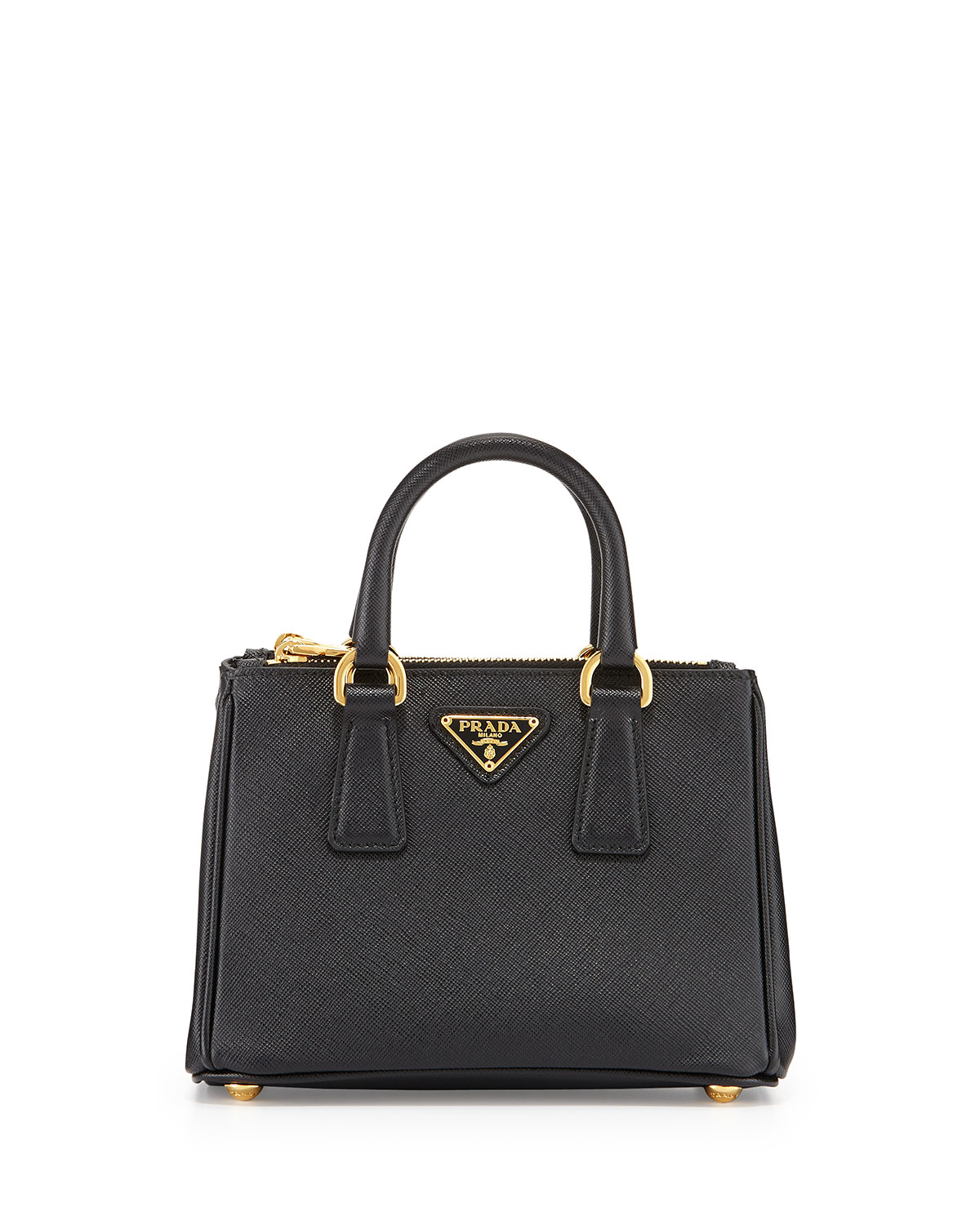 aa4494392dc6 Prada Saffiano Mini Galleria Crossbody Bag, Black (Nero) | Neiman Marcus