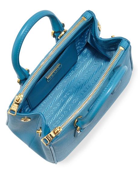 676666ee1e ... ireland prada saffiano mini galleria crossbody bag blue celeste neiman  marcus 6c05d 95efd